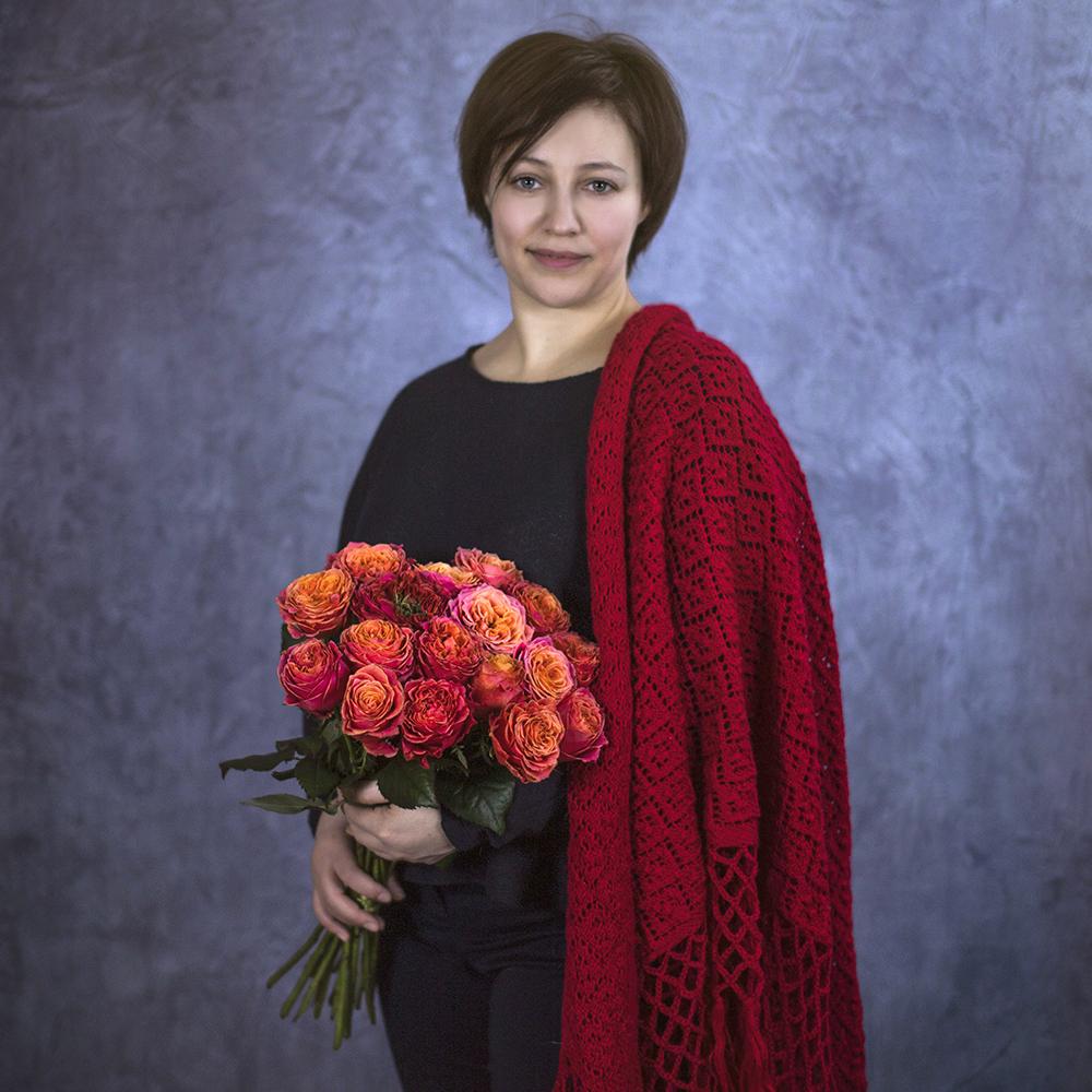 Купить пионовидные коралловые розы недорого Пермь заказ онлайн доставка на дом