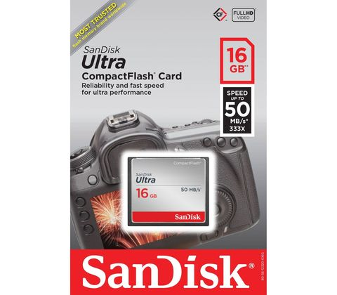 Карта памяти CF  SanDisk  Ultra  16GB  (50 MB/s)
