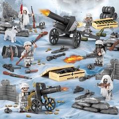 Минифигурки Военных Немецкая Армия в зимнем камуфляже серия 384