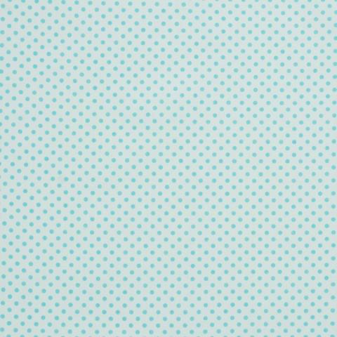 Ткань хлопковая бирюзовые горошки на белом, отрез 50*80 см