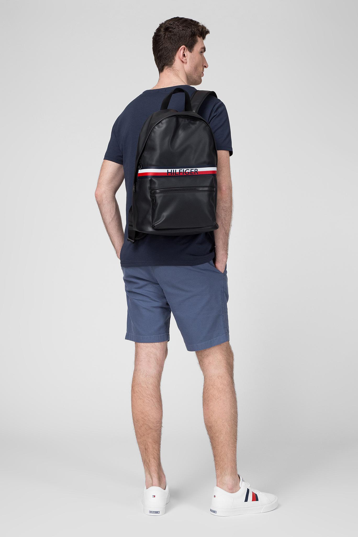 Мужской черный рюкзак URBAN PU BACKPACK Tommy Hilfiger