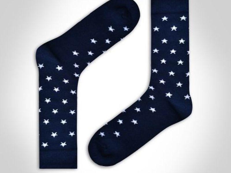 Носки мужские темно-синие со звездами DARKZONE DZCP0302