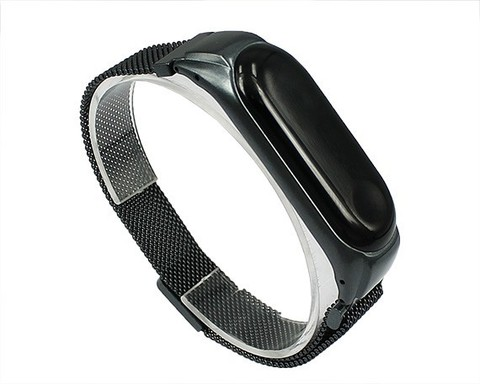 Ремешок для Xiaomi Mi Band 3/4 Milanese Loop серый
