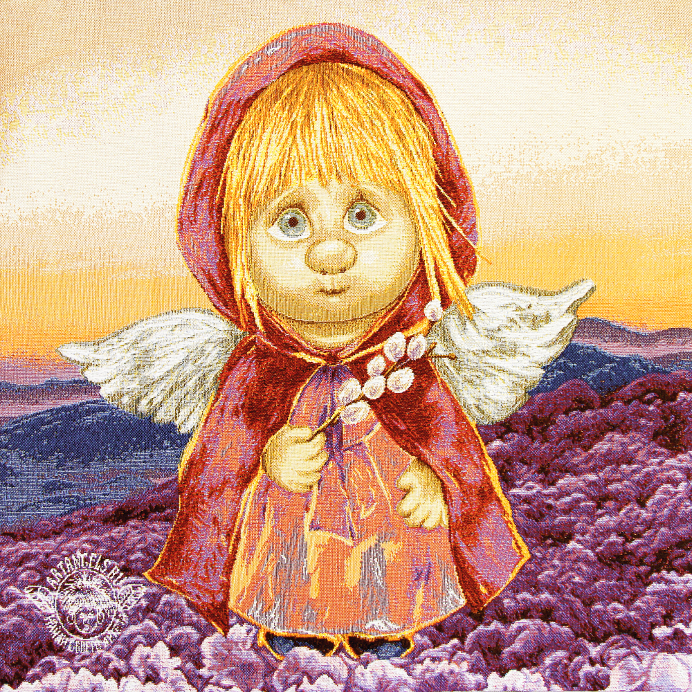 «Ангел Предвестник чуда» Наволочка гобеленовая 30х30 см