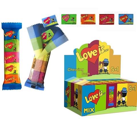 LOVE IS жевательная резинка ассорти вкусов (мини mix)  1кор*6бл*20шт, 21гр