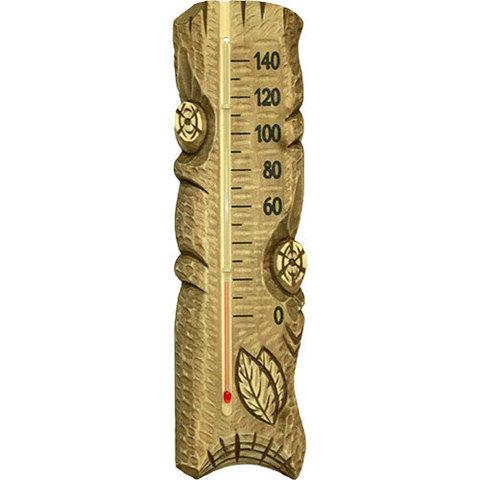Термометр резной Полено