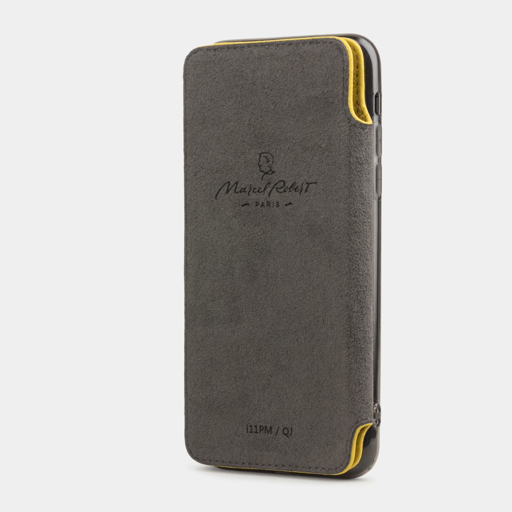 Чехол Benoit для iPhone 11 Pro из натуральной кожи теленка, желтый цвета