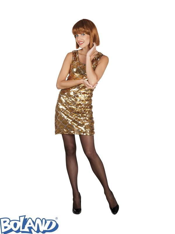 Платье вечернее блестящее золото