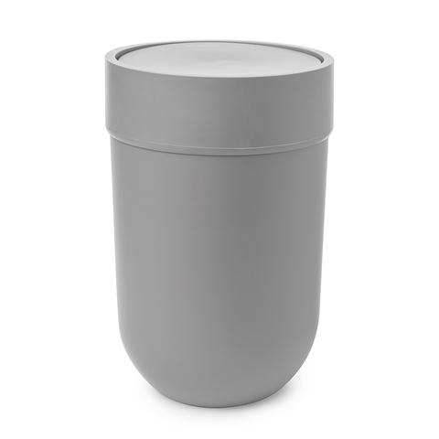 Контейнер мусорный Touch с крышкой серый