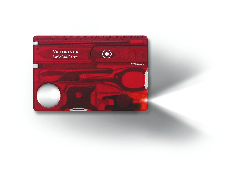Швейцарская карта Victorinox SwissCard Lite Red (0.7300.T) красная полупрозрачная - Wenger-Victorinox.Ru
