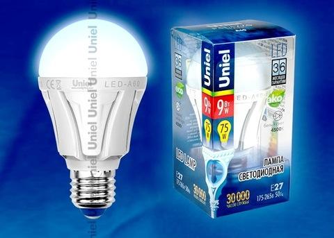 Uniel Лампа LED-A60-9W/NW/E27/FR Palazzo (белый свет)