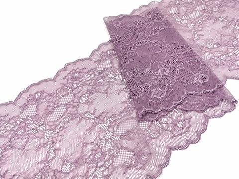 Эластичное кружево, ОПТ, пыльно-сиреневый (крокус), 23см (Артикул: EK-1020), м