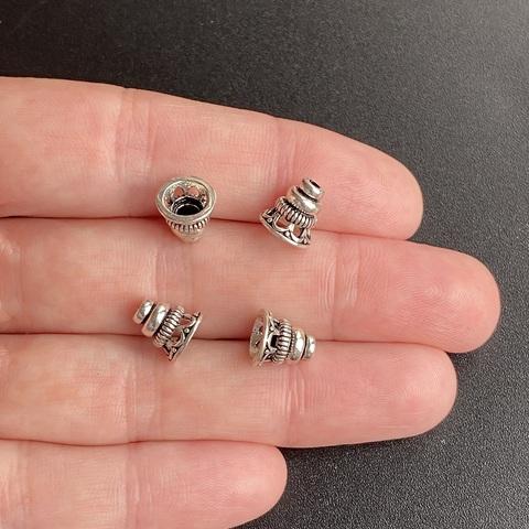 Шапочка конус Верона 8х8 мм серебро 925 1 шт