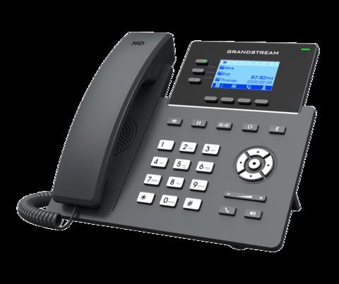 Grandstream GRP2603 (без PoE) - IP телефон. 6 SIP аккаунтов, 3 линии, есть подсветка экрана, (1GbE)Gigabit Ethernet