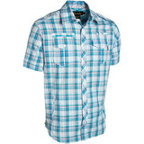 Рубашка синяя в крупную клетку фото