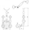Смеситель для душа Migliore Cristalia Swarovski ML.CRS-3746 схема