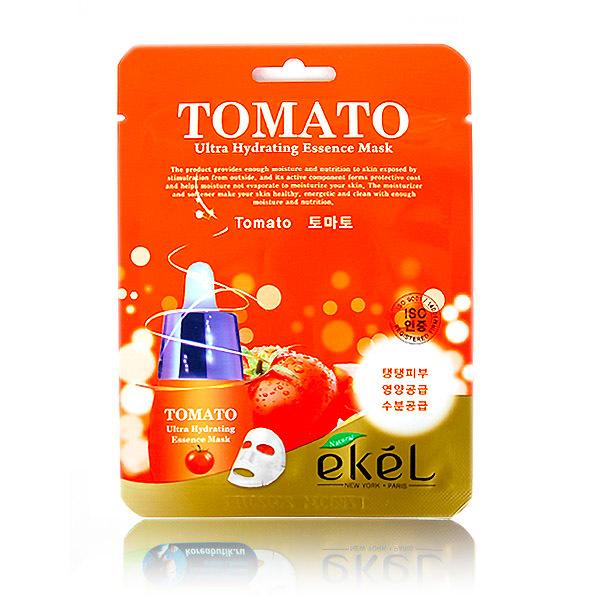 Тканевая маска с экстрактом томата  EKEL TOMATO ULTRA HYDRATING ESSENCE MASK