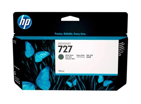 Оригинальный картридж струйный HP B3P22A (№727) черный матовый