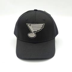 Кепка с вышитым логотипом Сент-Луис Блюз (Бейсболка St Louis Blues) черная