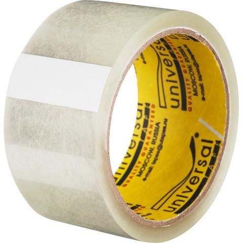 Скотч клейкая лента упаковочная Universal прозрачная 50 мм x 45 м толщина 40 мкм