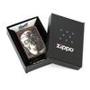 Зажигалка Zippo Mazzi, латунь с покрытием Black Matte, черный, матовая, 36х12x56 мм
