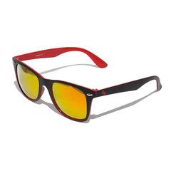 Очки солнцезащитные 2K F-15025-B6  (чёрно-красный / красные revo)
