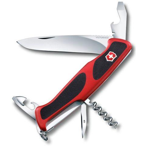 Нож перочинный Victorinox RangerGrip 68 (0.9553.C) 130мм 11функций красный/черный