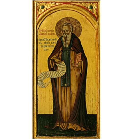 Икона святой Анастасий Синаит на дереве на левкасе мастерская Иконный Дом