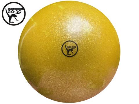 Мяч GO DO для художественной гимнастики. Диаметр 19 см. Цвет жёлтый имитация