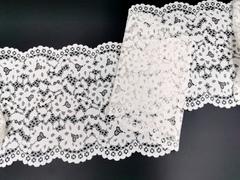 Эластичное кружево, 22 см, молоко, (Арт: EK-2212), м