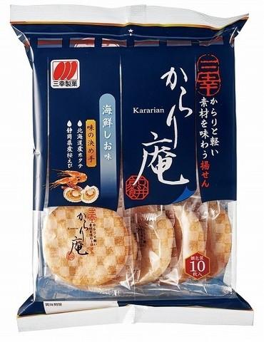 Снэк Рисовый печенье Сэмбэй с креветкой и гребешком соленое 115,6 гр