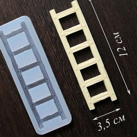 Силиконовая форма для шоколада ЛЕСТНИЦА прозрачный силикон (размер 120х35мм)