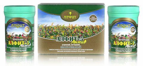 Чай Алфит-Актив № 5 слабительный, 60 бр. (Гален)
