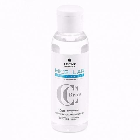 Мицеллярная вода для бровей micellar brow cleanser 100 мл