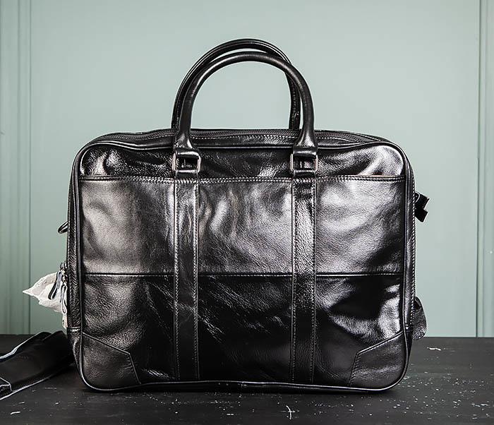 BAG491-1 Мужской кожаный деловой портфель черного цвета