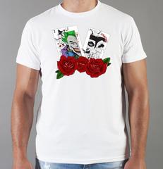 Футболка с принтом Джокер, Отряд самоубийц (Joker, Suicide Squad, Джаред Лето) белая 0010