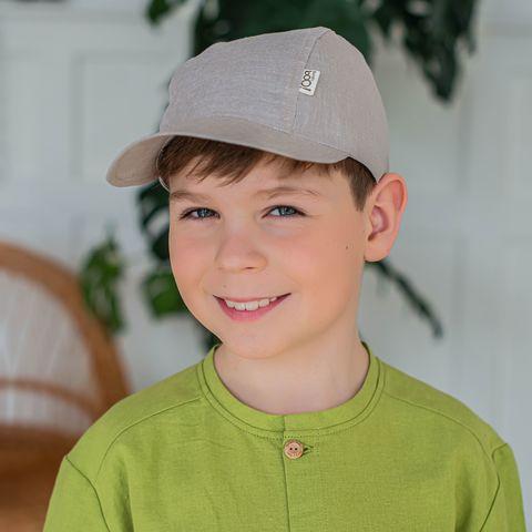 Cotton cap for teens - Beige Melange