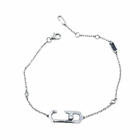 23061- Браслет из серебра Move с цирконом lux