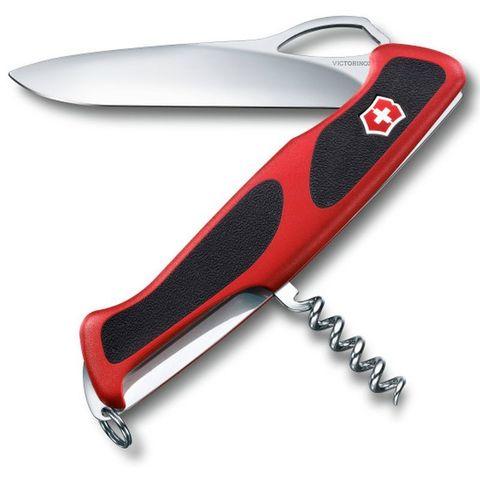 Нож перочинный Victorinox RangerGrip 63 (0.9523.MC) 130мм 5функций красный/черный