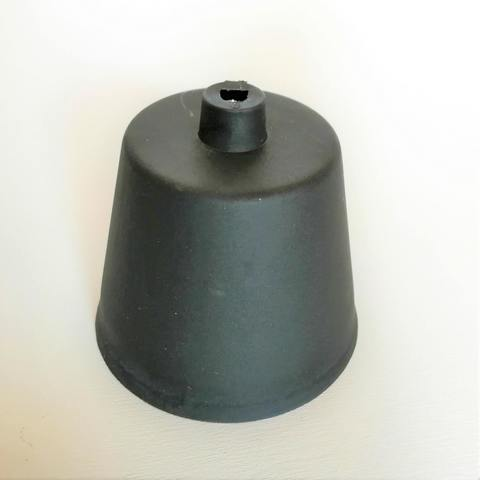 Чашка потолочная черная (пластик)