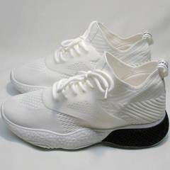 Текстильные кроссовки летние женские El Passo KY-5 White.