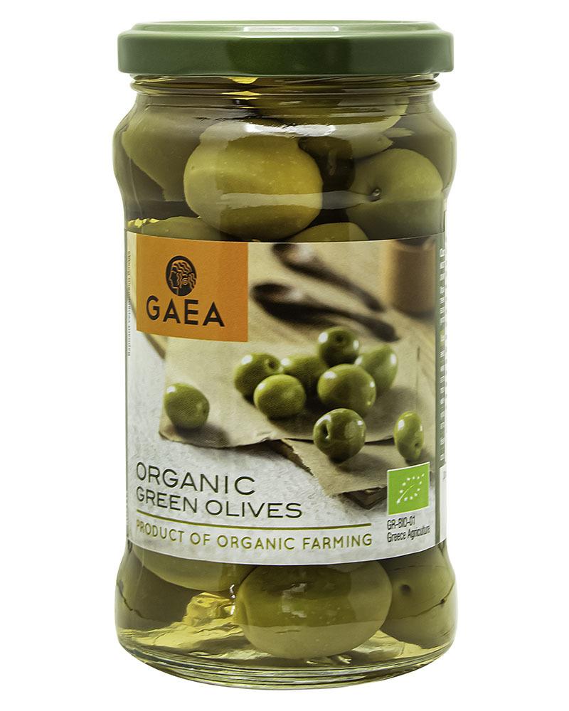 Organic Green Olives GAEA 300gr