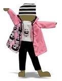 Костюм с футболкой и курткой - Демонстрационный образец. Одежда для кукол, пупсов и мягких игрушек.