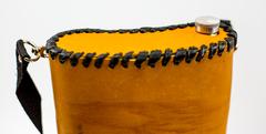 Фляга «Волк», чехол натуральная кожа с художественным выжиганием, 2 л, фото 2