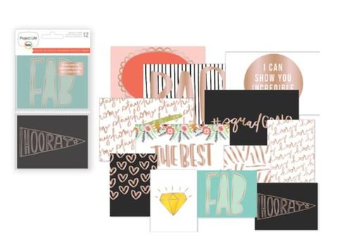 Набор карточек Project Life Specialty Card - 7,5х10см /6 шт и 10х15/6 шт