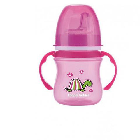 Поильник обучающий EasyStart 35/207 с силиконовым носиком, 120 мл. 6+ Colourful animals (розовый)