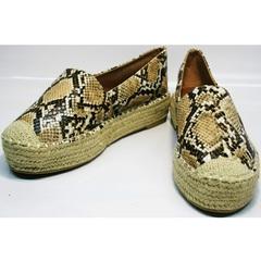 Эспадрильи на толстой подошве Lily shoes Q38snake.