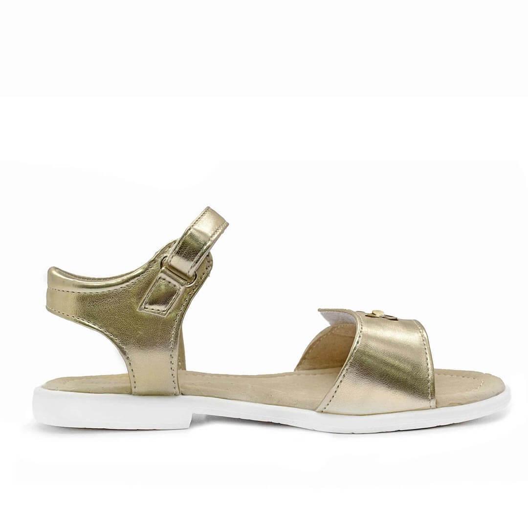 Кожаные анатомические сандалики Nordman Boom золотые