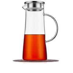Кувшин стеклянный с фильтром в крышке 1,5 л для воды, сока и других напитков