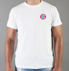 Футболка с принтом FC Bayern Munchen (ФК Бавария) белая 002